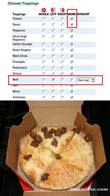 None Pizza Left Beer